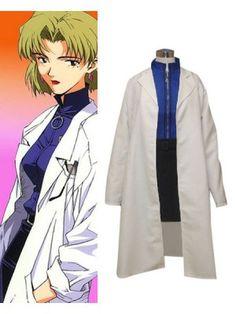 Neon Genesis Evangelion Ritsuko Akagi Cosplay Outfits Costumess