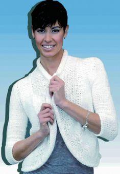 Bílý kabátek Bambou   RUČNÍ PLETENÍ - NÁVODY ZDARMA