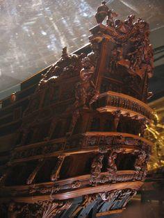 Ship model Soleil Royal in the Musee de la Marine, Paris
