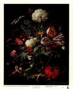Vase of Flowers Posters par Jan Davidsz. de Heem sur AllPosters.fr