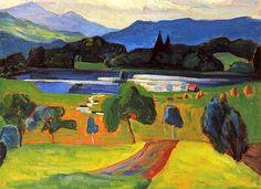 """Gabriele MUNTER """"Lac dans la montagne"""", via Flickr."""