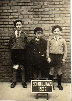My father and his brother and sister (my uncle and aunt) Den Hague1936