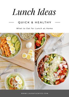 Wondering what to eat for lunch at home? Try one of these healthy home lunch ideas that are quick and easy to make. Plus, you can prep them ahead to save time. Eat Lunch, Lunch Snacks, Lunch Recipes, Real Food Recipes, Lunch Box, Healthy Recipes, Greek Chicken Salad, Asian Chicken Salads, Cold Lunches