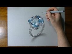 How I draw an aquamarine ring by Marcello Barenghi