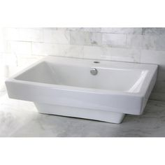 FREE SHIPPING! Shop Wayfair for Kingston Brass Plaza China Vessel Bathroom Sink with Overflow Hole and Faucet Hole - Great Deals on all Furniture products with the best selection to choose from!
