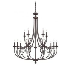 Roch 15-Light English Bronze Chandelier
