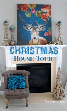 Christmas House Tour - 2013 Holiday Housewalk - The Graphics Fairy