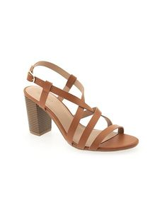 Faux-Leather Strappy Heel for Women