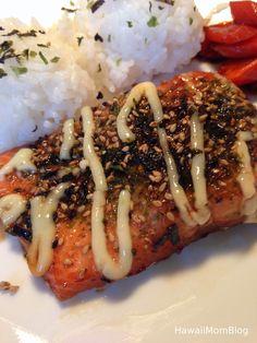 Hawaii Mom Blog: Furikake Wasabi Salmon Recipe