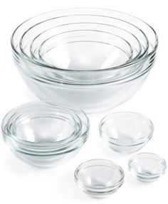 Martha Stewart Collection 10 Pc. Glass Mixing Bowl Set, Only At Macyu0027s |