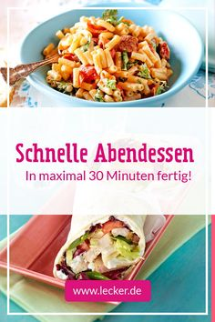 Quick dinner - Schnelles Abendessen – Rezepte Standing in the kitchen for a long time after work? Here come over 30 delicious ones for a delicious in less than 30 minutes! Hamburger Meat Recipes, Easy Meat Recipes, Quick Dinner Recipes, Sausage Recipes, Whole 30 Recipes, Grilling Recipes, Lunch Recipes, Summer Recipes, Paleo Recipes