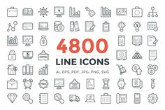 Wouldn't finding 4800 icons in one pack be awesome! This compact pack does offer this many line icons at one place. Each line icon in this pack is unique, different and creatively designed to make your projects more user-friendly and visually appealing. | #icon #outline #line #unique #pack #collection #eps #vector #stroke #editable #trending #business #celebration #app #games #celebration #cloud #technology #element #development #nature #shopping #popular #realestate #lineicons #outlineicons