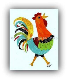 Hey, I found this really awesome Etsy listing at https://www.etsy.com/listing/212170698/rooster-art-chicken-art-kitchen-art-8-x