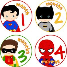 Monthly Baby Milestone Stickers Baby Boy Super Heroes Baby Shower Gift One-Piece Baby Stickers Monthly Baby Stickers Baby Month Sticker 301 by LittleLillyBugDesign on Etsy Baby Shower Niño, Baby Shower Gifts, Baby Gifts, Superhero Baby Shower, Caleb, The Wombats, Baby Month Stickers, Baby Milestones, Baby Month By Month