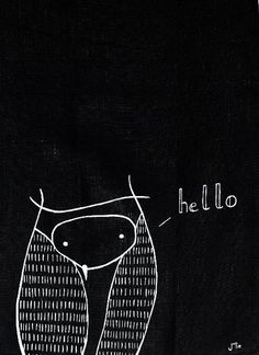 'Owl Hello' by Julie Lebailly