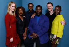 Sarah Paulson, Alfre Woodard, Chiwetel Ejiofor, Michael Fassbender, Lupita Nyong'o and Steve McQueen at event of 12 Years a Slave