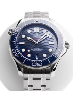AT 70 The powerful transformation of a favourite design. Omega Watches Seamaster, Seamaster 300, Omega Seamaster Automatic, Omega Speedmaster, Seamaster Watch, Cool Watches, Rolex Watches, Watches For Men, Wrist Watches