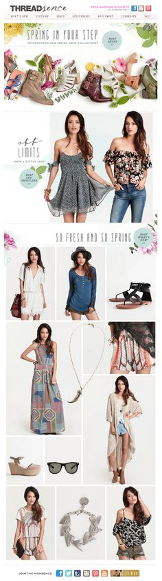 #email #newsletter #springfashion  www.datemailman.com