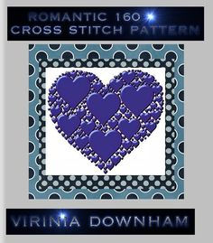 ROMANTIC 160 is a stunning Cross Stitch Pattern. It has a total of 22500 stitches and uses 60 DMC cottons. (You get a comprehensive list of cottons needed with this cross stitch pattern.). For best results use14-count Aida materialanda blunt tapestry needle size 24. Finished project sizes are    14 Count, 10 3/4 inches wide x 10 3/4 inches high    16 Count, 9 1/2 inches wide x 9 1/2 inches high    18 Count, 8 3/8 inches wide x 8 3/8 inches high        The center marks appear on the…