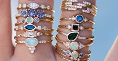 Too many pretty rings :) All of them are handmade in Los Angeles