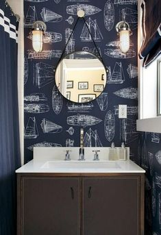 Nautical Wallpaper seen on Decor Pad