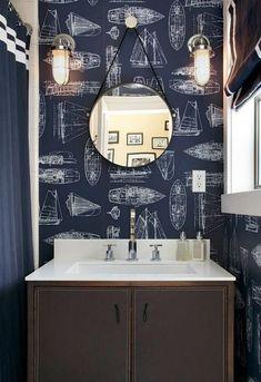 Boy's Bathroom Design