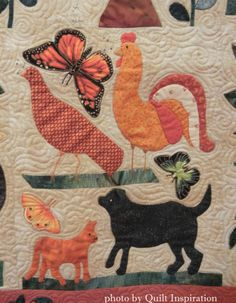 In Memoriam by Maggie Hagen, quilted by Pamela Dransfeldt.  2015 AZQG. Closeup Photo by Quilt Inspiration