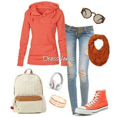 Cute fall outfit, just not the shoes