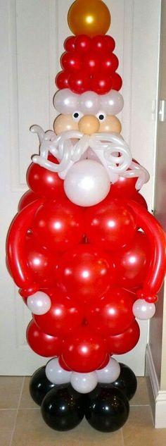Santa Made Outta Balloons