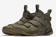 """Nike LeBron Soldier XI """"Olive Camo"""", un nuevo color llega a finales de verano."""