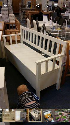 Kökssoffa Scandinavian Benches, Beautiful Interior Design, Nordic Design, Toddler Bed, Design Ideas, Kitchen, Furniture, Home Decor, Projects