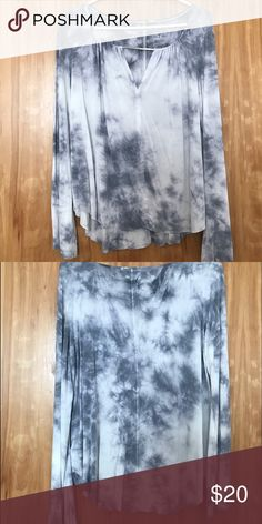 American eagle tye-dye blouse Large Very trendy and comfortable design! Never worn!! American eagle size large American Eagle Outfitters Tops Blouses