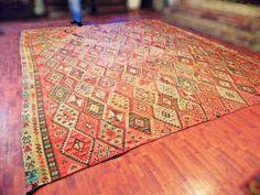 130 años de edad  kilim Turco VINTAGE.Anatolia  por TurkishMuseum, $7000.00