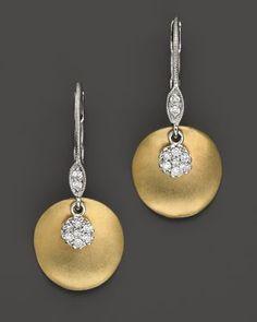 208ee4112 Meira T 14 Kt. Yellow Gold/Diamond Drop Earrings | Bloomingdale's Diamond  Drop Earrings