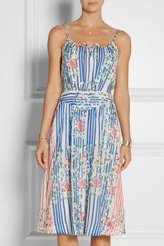PAUL & JOE Courtois printed silk and cotton-blend dress $612.27 |NET-A-PORTER