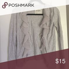 Abercrombie & Fitch cardigan A&F kids size large cardigan! Super cute, but I've outgrown it! In good condition! I will sell on Ⓜ️ for cheaper w request!  Abercrombie & fitch Sweaters Cardigans