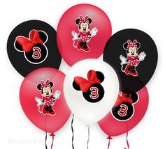 MINNIE MOUSE Balloon Stickers Gift Box by ThePrintShoppeOnEtsy, $2.50