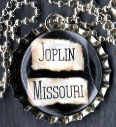 Joplin Missouri Bottle Cap Necklace by forjoplin on Etsy, $5.00