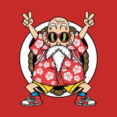 Check out this awesome 'Kame senin - Roshi - Dragon ball Z' design on Tatoo Manga, Dragon Ball Gt, Anime, Copics, Art Sketches, Artwork, Pop Art, Character Design, Facebook Instagram