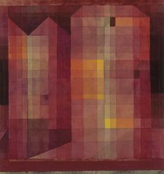 Burg 1 (Castle 1), 1923 Watercolor and pencil on paper on cardboard