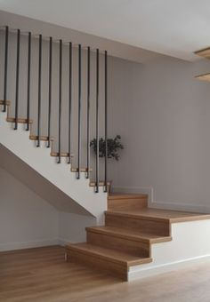 stairs for loft space saving \ stairs for loft bed + stairs for loft + stairs for loft conversion + stairs for loft bed diy projects + stairs for loft space saving Loft Stairs, Staircase Railings, Basement Stairs, House Stairs, Stair Bannister Ideas, Bed Stairs, Modern Basement, Banisters, Stairways