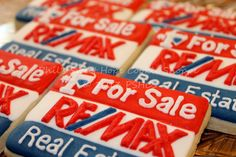 Re/Max For Sale Sign Cookies. Fort Lauderdale Fl Homes. RE/MAX Beach Realtor Fort Lauderdale, Selling a Fort Lauderdale Fl Home