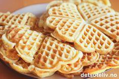 Vafler fra Sjømannskirken i Miami Waffles, Miami Beach, Breakfast, Recipes, Food, Cakes, Decoration, Birthday, Tips