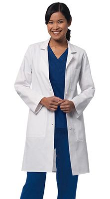 8008a804998 The Women's Five Pocket Lab Coat by Barco offers plenty of storage for your  writing utensils and instruments. It's fashionable style will have you  looking ...