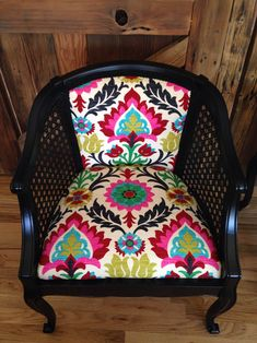 waverly santa maria desert flower | OFS All Stars Project: Reupholstered Chairs