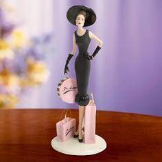 New Lenox Figurine 5th Avenue Shopping Lady Woman Figure