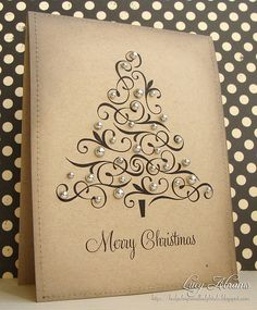 I think this Christmas Card is beautiful. Christmas Card Ideas by Diy Christmas Cards, Xmas Cards, Handmade Christmas, Holiday Cards, Christmas Crafts, Christmas Decorations, Merry Christmas, Greeting Cards, Cute Cards