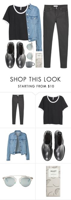 """""""Postgrad"""" by soym ❤ liked on Polyvore featuring MANGO, H&M, Acne Studios, Christian Dior and CB2"""