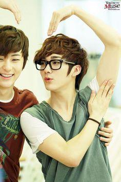 nu'est Minhyun and Aron