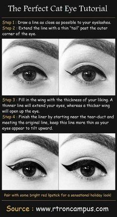 I love this! Cat eyeliner looks amazing.